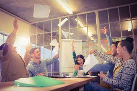 office meeting ideas. Perfect Office Team Having Fun In Corporate Meeting Increased Team Morale Intended Office Meeting Ideas O