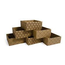Cardboard Storage Box Decorative Simple Interior with Diamond Decorative Storage Boxes Short Cubby 45