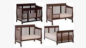 All In One Crib Stork Craft Tuscany 4 In 1 Convertible Crib Espresso Youtube