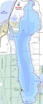 Lake Michigan Bathymetry Chart Elk Lake Map Antrim County Michigan Fishing Michigan