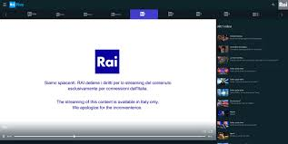 How to unblock Rai TV online channels outside Italy - Rai Play