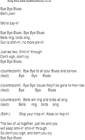 Blues Charts Uk Top Songs 1930 Music Charts Lyrics For Bye Bye Blues