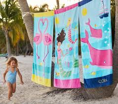 Classic Flamingo Beach Towel Pottery Barn Kids