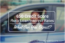 Car Loan Interest Rate Chart 650 Credit Score Auto Loan Interest Rate 2019 What Can