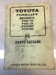 Toyota Forklift FGC 10,15,20, 25 Parts Catalog Manual – Forklift ...