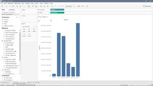 How To Create Pie Chart In Tableau Youtube