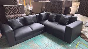 new leather l shape couches