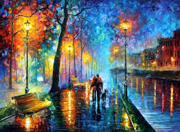 beautiful oil painting art ง