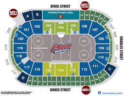 Colts Seating Chart Oshawa Generals Vs Barrie Colts Tribute Communities Centre