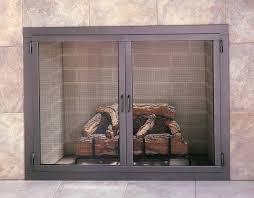 glass doors for gas fireplace home design ideas