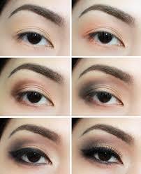 0 step by step eye shadow tutorials
