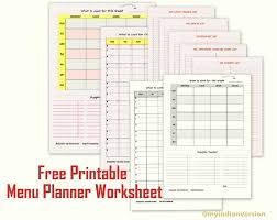 free menu planner my indian version free printable menu planner
