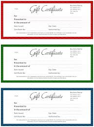 official gift certificate