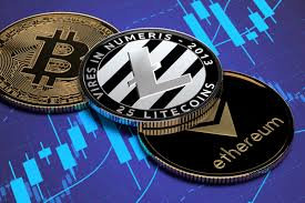 Crypto Coins On Stock Price Chart Free Image Download