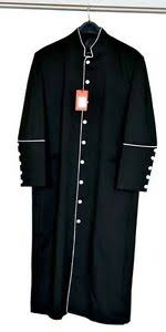 Details About Mens Cassock Clergy Robe Black White Regular Long Sizes Pastor Minister