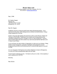 Retail Sales Cover Letter By Marc Shelton Sales Cover Letter