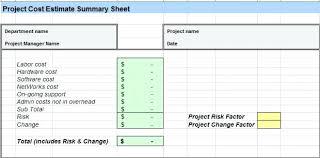 Project Estimate Template Excel Project Cost Sheet Template Bernardy Co
