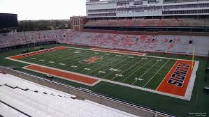 Illinois Seating Chart Football Memorial Stadium Il Section 201 Rateyourseats Com