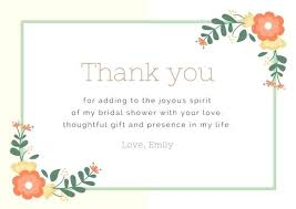 Online Thank You Card Template Floral Corners Funeral Wedding