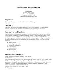 Resume Format For Hotel Management Brilliant Hotel Management Resume