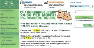 marc gander co founder of forum the consumer action group forwarded us an image of lloyds tsb promotional pet insurance material which described