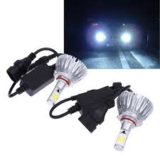 2Pcs <b>Car styling Headlight</b> 9005 9006 COB LED Headlamp 60W ...