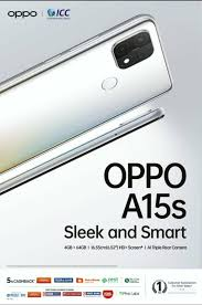 OPPO A15s promo image and key ...