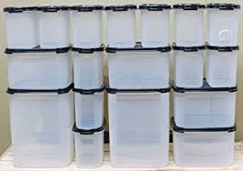 tupperware food storage containers. Amazoncom Tupperware Modular Mates Mega Essential Set Black 18 Kitchen Storage And Organization Product Accessories Dining Throughout Food Containers