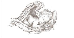 Angel Sketch 28 Angel Drawings Free Drawings Download Free Premium