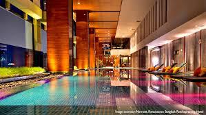 indoor infinity pool. Renaissance Ratchaprasong Hotel The Best Indoor Infinity Pool At Bangkok