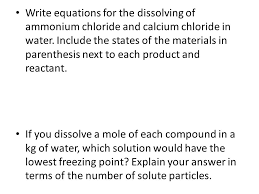 energy and chemical equations ppt 2 chemical endothermic reaction investigation ammonium chloride water