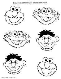 Important Printable Pictures Of Sesame Street Characters Coloring