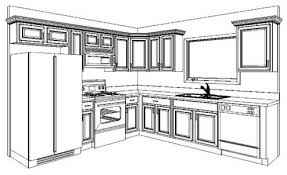 simple kitchen drawing. Kitchen Cabinets Ideas Cabinet Drawing Photos Gallery Simple
