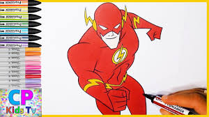 Flash Coloring Pages For Kids Part 4 Flash Coloring Pages