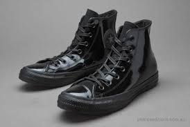 converse chuck taylor all star leather for women black patent hi