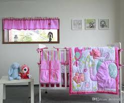 elephant twin bedding set active printing cotton baby girl crib bedding set pink elephant flower cot