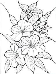 Simple Flower Coloring Pages Simple Flowers Coloring Pages Flower