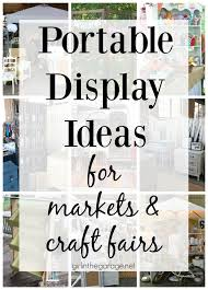 easy portable display ideas for markets and craft fairs by girl in the garage