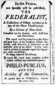 the federalist papers save the west advertisement for the essays that constituted what would later become known as the federalist papers