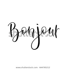 Bonjour Sign Hello Lettering Simple Quote Stock Vector Royalty Free Beauteous Simple Quote