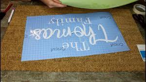 DIY personalized doormat using cricut stencil vinyl Cricut explore ...