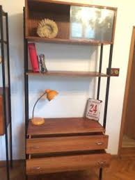 vintage mid century single bay desk modular shelving system