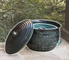 garden hose pot with lid. Hose Bowl With Lid Cobraco Decorative Holders Garden Pot