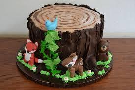 Best 25 Woodland Theme Cake Ideas Rustic Birthday Cake Woodland