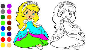Girl Coloring Game L Coloring Book Learn Colors For Children Youtube