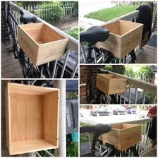 DIY bike rear basket made of a wine box