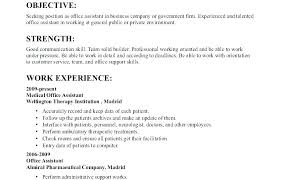 objective samples for a resumes example resume objective med assistant info