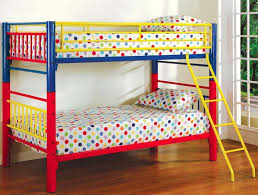 traditional painted twin bedding boy with colorful dotted bed linen and wooden bedroom flooring including used