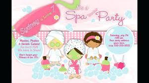 Spa Party Invites Printable Invitations Little Girl