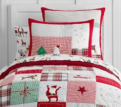 twin red bedding jolly santa quilt twin red